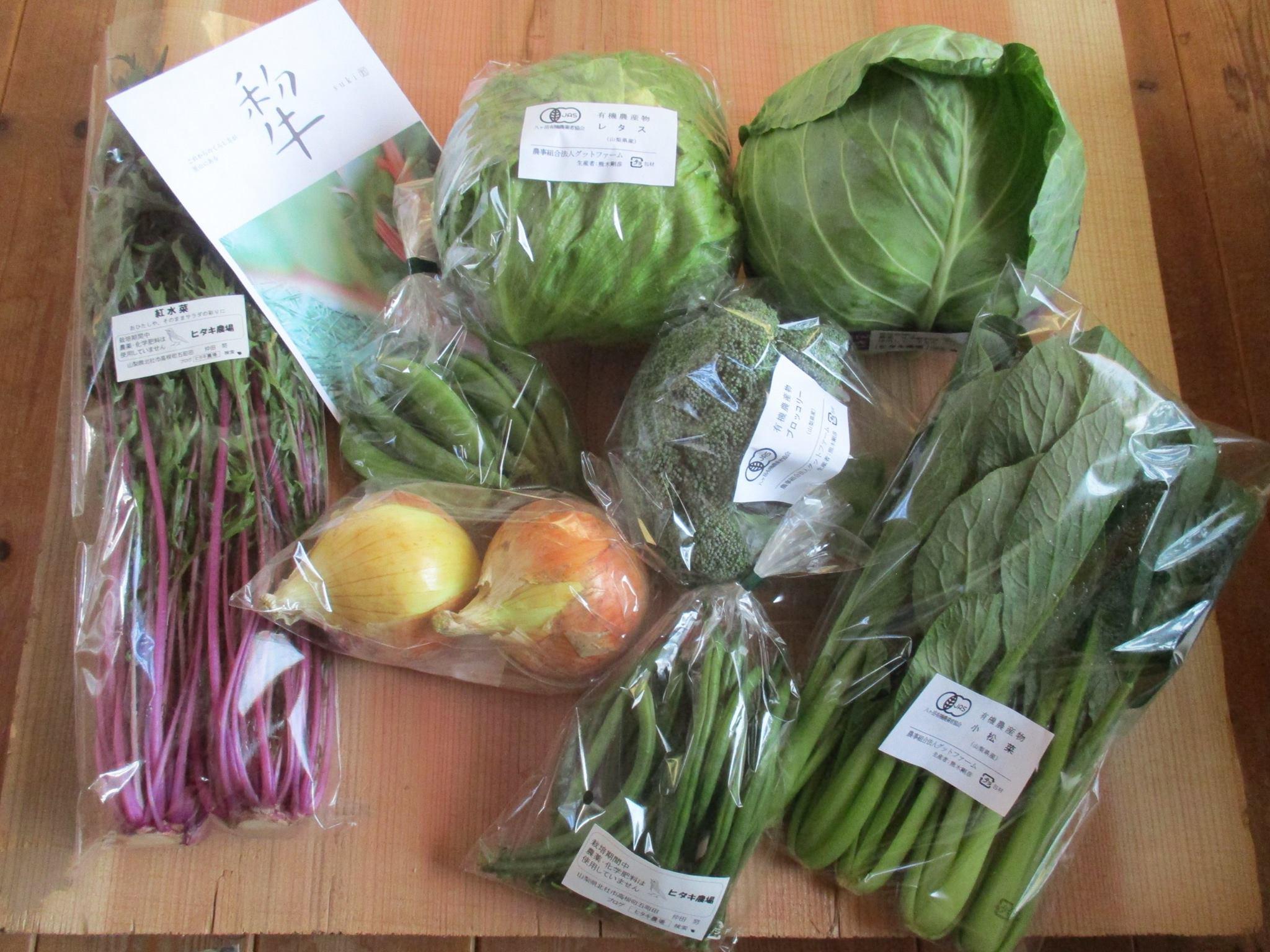 北杜市ふるさと応援団の野菜ボックスの発送をしました